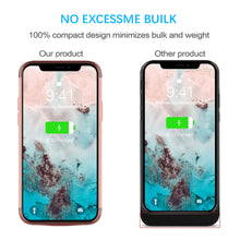 Load image into Gallery viewer, Cover Batteria iPhone 11 Portatile 6000mAh Custodia Batteria Esterna Power Bank Case Roseo Oro