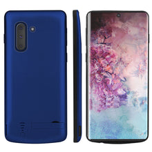 Load image into Gallery viewer, Custodia Batteria Galaxy Note 10 Caricabatteria Backup Power Bank Protettiva Extra Pack Blu