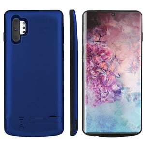 Custodia Batterie per Galaxy Note 10 plus 5000mAh Esterno Portatile Ricaricabile Cover Blu