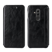 Load image into Gallery viewer, Huawei Mate 20 lite cover slim fit custodia portafoglio pelle con slot schede nero