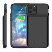 Load image into Gallery viewer, Custodia batteria iPhone 11 Pro alimentazione estesa 4800mah power bank custodia protettiva nero