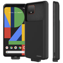 Load image into Gallery viewer, Custodia Batteria Pixel 4 XL Caricabatteria Backup 7000mah Power Bank Protettiva Extra Pack Nero