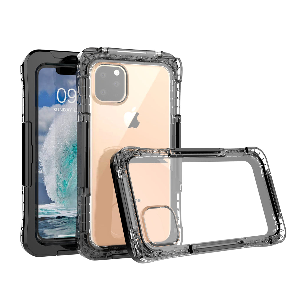 Custodia Impermeabile per iPhone 11 Pro IP68 Waterproof Cover Slim Subacquea Sottile Antiurto Case Nero