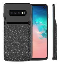 Load image into Gallery viewer, Cover Batteria Samsung Galaxy S10 4700 mah Ricaricabile Portatile Backup Caricabatterie nero
