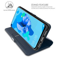 Load image into Gallery viewer, Cover Huawei P20 Lite 2019 PU Custodia Portafoglio Flip Cover con Slot Carte Blu
