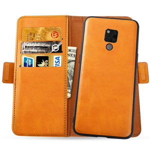 Cover Custodia per Huawei Mate 20X 5G Ultra Sottile Smart Cover in Pelle con Slots Carte Arancio