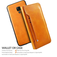 Load image into Gallery viewer, Cover Custodia per Huawei Mate 20X 5G Ultra Sottile Smart Cover in Pelle con Slots Carte Arancio