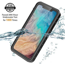 Load image into Gallery viewer, Custodia Impermeabile iPhone Xs / X Protezione Antiurto Waterproof Custodia con Schermo Incorporato Nero