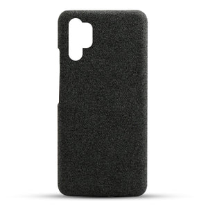 Custodia per Samsung Galaxy Note 10 Plus astuccio in tessuto anti shock nero