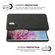 Load image into Gallery viewer, Custodia Samsung Galaxy Note 10 Plus 5G rivestimento cover tessuto sottile anti shock nero