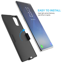 Load image into Gallery viewer, Cover batteria Samsung Note 10 Plus 5G caricabatterie esterno portatile 7000mah nero
