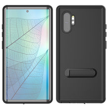 Load image into Gallery viewer, Cover subacquea Samsung Note 10 plus IP68 impermeabile pellicola salvaschermo integrata con cavalletto nero