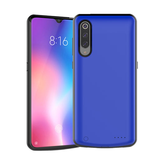 Xiaomi Mi 9 custodia batteria ricaricabile portatile power bank slim cover 5000mAh blu