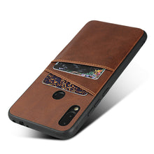 Load image into Gallery viewer, Custodia Redmi Note 7 Cover in TPU + PU con 2 Slot Carte Marron