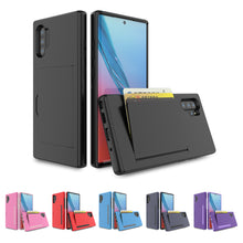Load image into Gallery viewer, Cover Samsung Galaxy Note 10 Plus Portafoglio Smartphone Porta Carte Credito per Samsung Blu