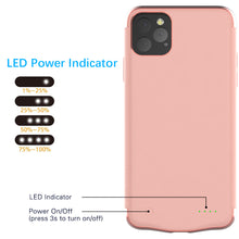 Load image into Gallery viewer, Cover Batteria Phone 11 Pro 6000mAh Power Bank Backup Battery Charger Case Roseo Oro