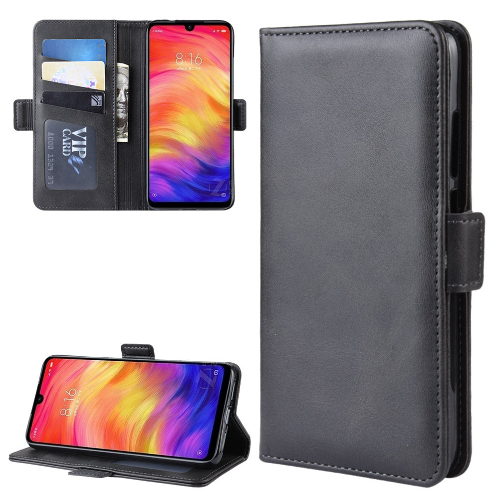 Cover per Redmi Note 7 Gliaffari Flip Case in Pelle con Carte Di Credito Nero