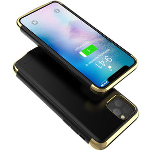 Cover batteria per iPhone 11 Pro Max protezione custodia telefono ricarica travel-light nero