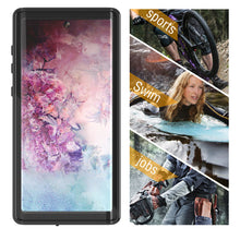 Load image into Gallery viewer, Cover Samsung Galaxy Note 10 plus Impermeabile Waterproof con Protezione dello Schermo Cotone galleggiamento