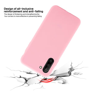 Cover per Galaxy Note 10 custodia candy antiurto in TPU per donna rosa