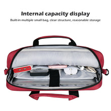 Load image into Gallery viewer, Custodia Sleeve MacBook Pro 16 Pollici Laptop Spalla Borsa Borsetta con Cintura Posteriore Nero