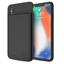 Load image into Gallery viewer, Cover Batterie per iPhone Xs Max Custodia Protettiva Portatili Extended Pack 5000mah Caricabatterie nero