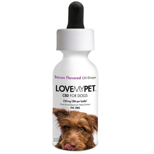 CBD Dog Oil Drops Bacon Flavored