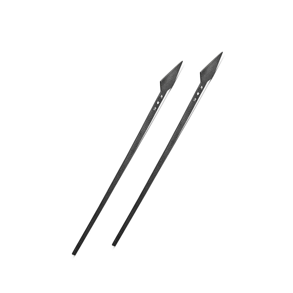 Silver & Diamonds Hair Chopsticks. Set of 2