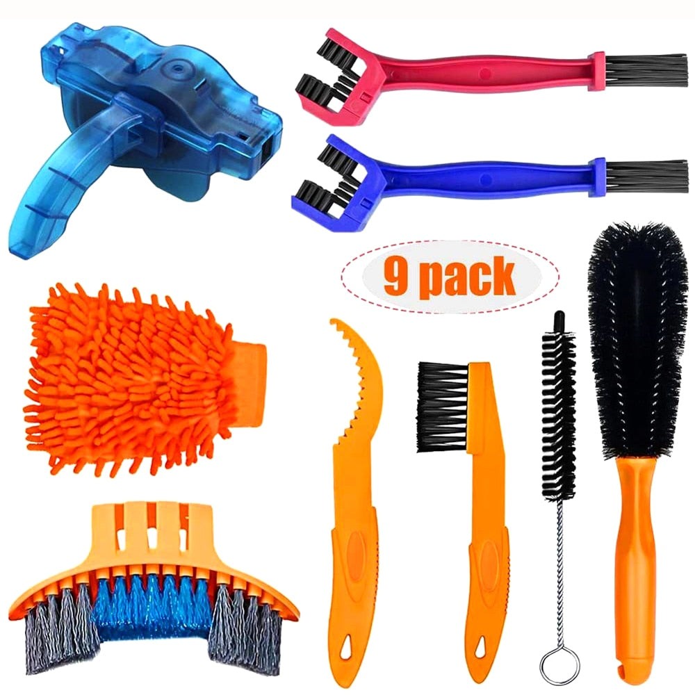 Bicycle Chain Cleaner Scrubber Brushes / Cleaning Kit