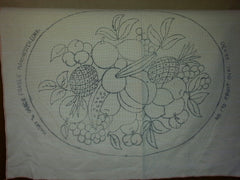 "Fraser Pattern #170 Fruit Oval 22"" X 30"" Printed On Monks Cloth"