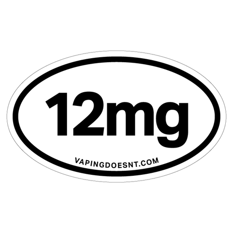 12mg Nicotine Sticker