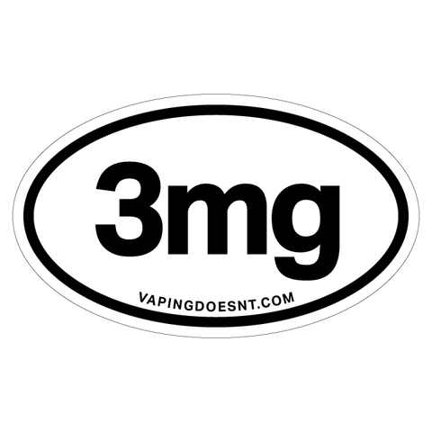 3mg Nicotine Sticker