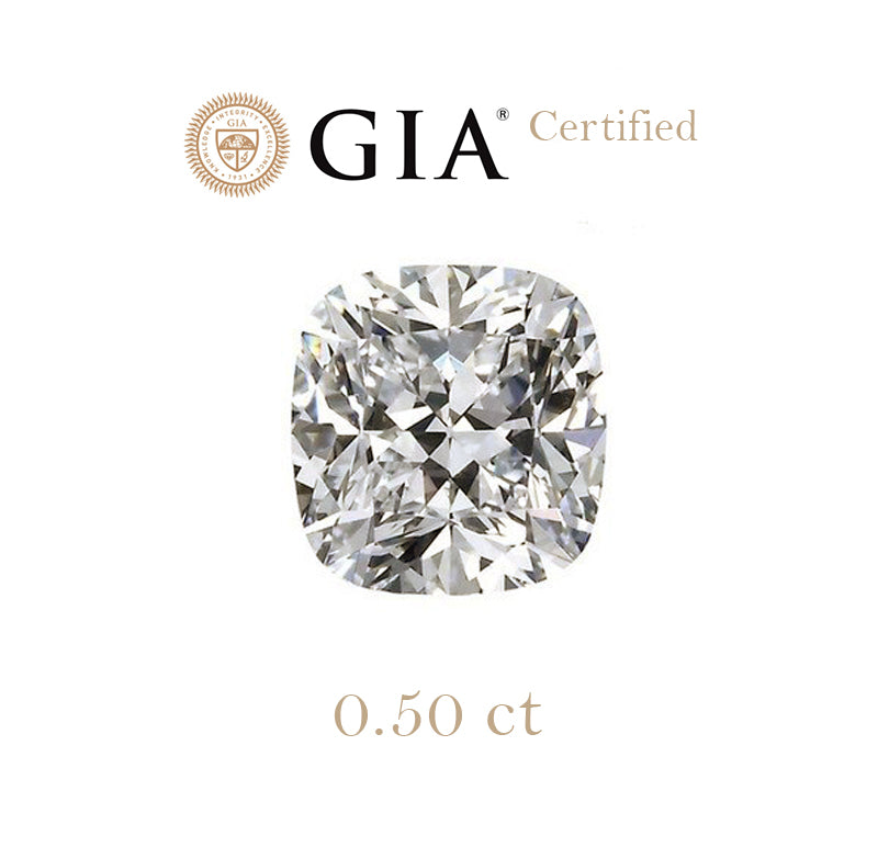 0.50ct Cushion Diamond