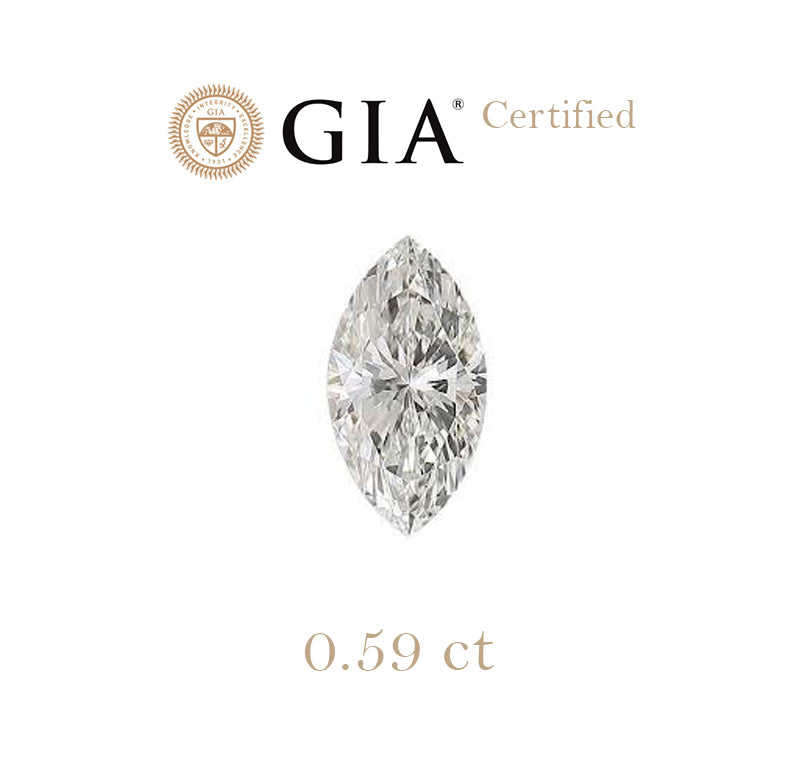 0.59ct Marquise Diamond
