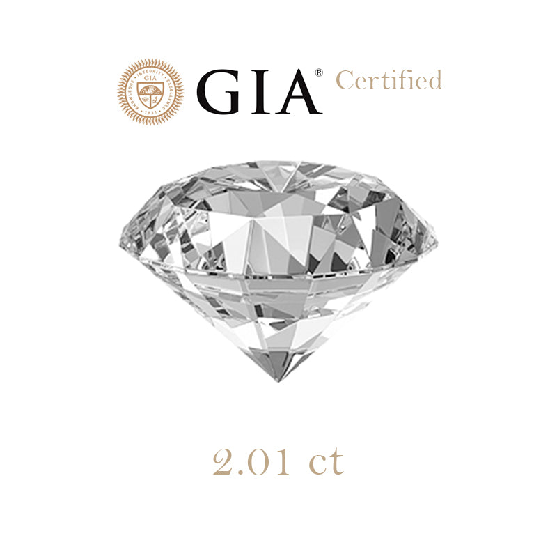 2.01ct Round Diamond E