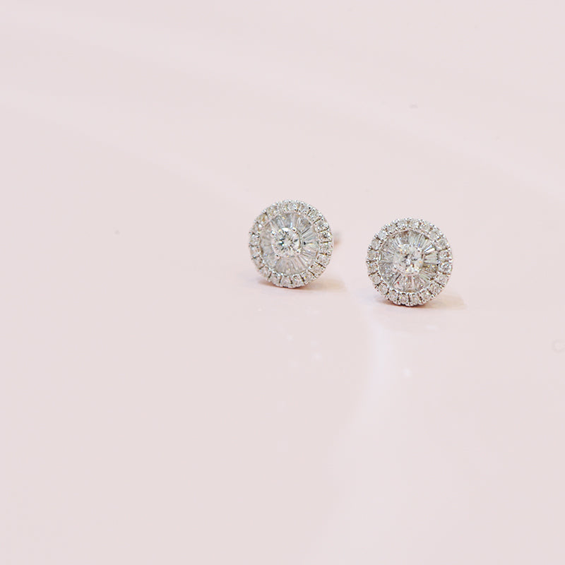 Trixie Round Earrings