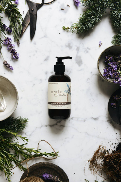 Myrtle and Moss-Lavender Body Wash 500ml-mott-and-mulberry-shop-online-brisbane