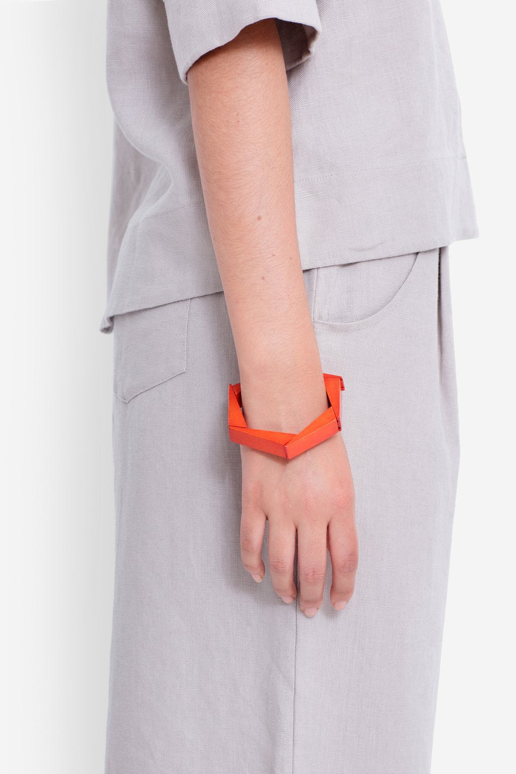 ELK-Johna Bangle Orange-Mott and Mulberry