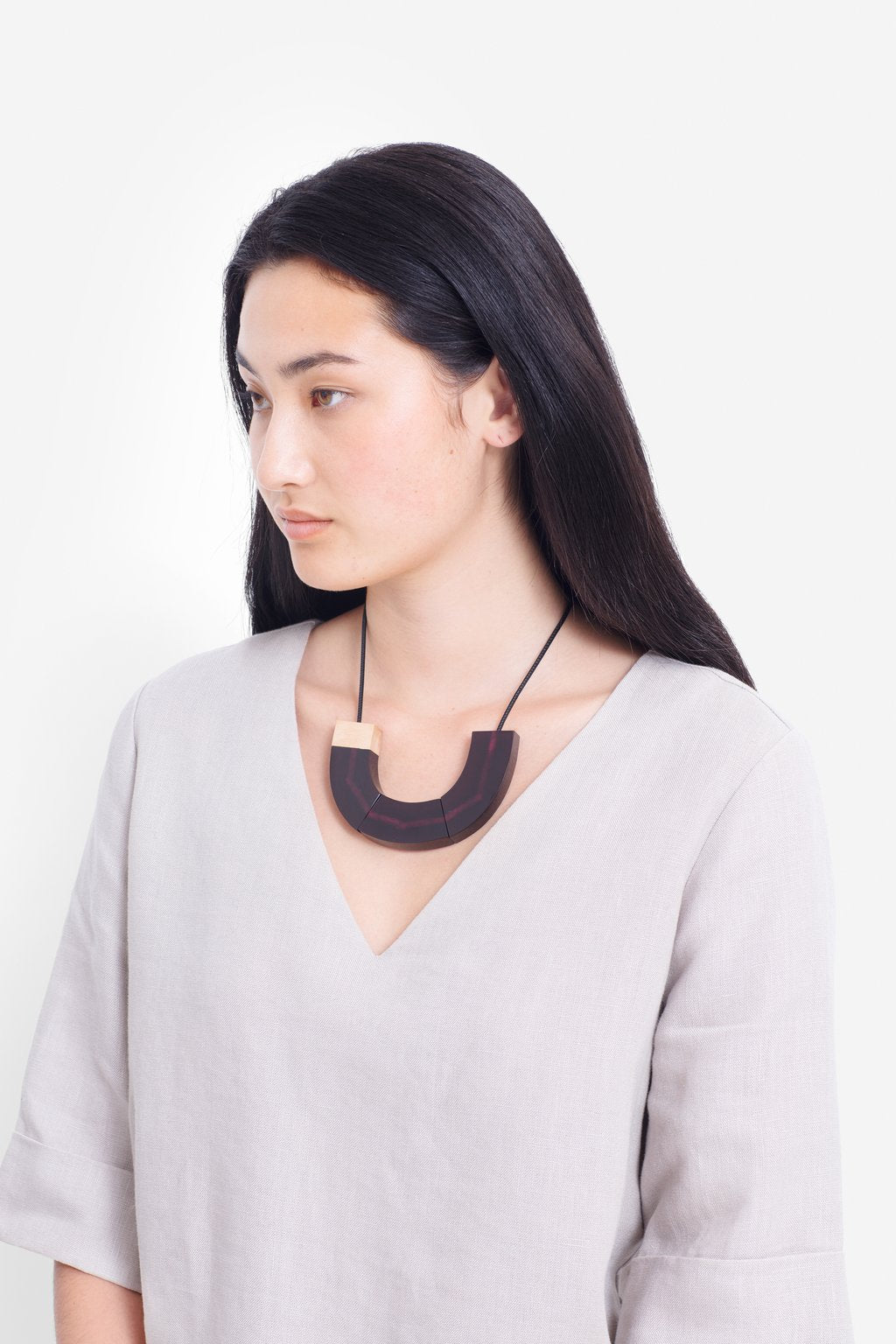 ELK-Yenni Necklace Plum Natural-Mott and Mulberry