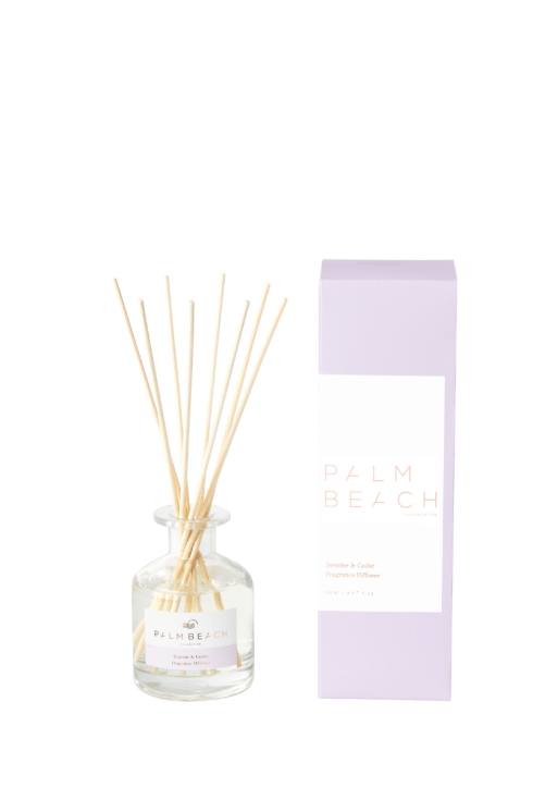 Palm Beach-Palm Beach Fragrance Mini Diffuser Jasmine and Cedar 50ml-Mott and Mulberry