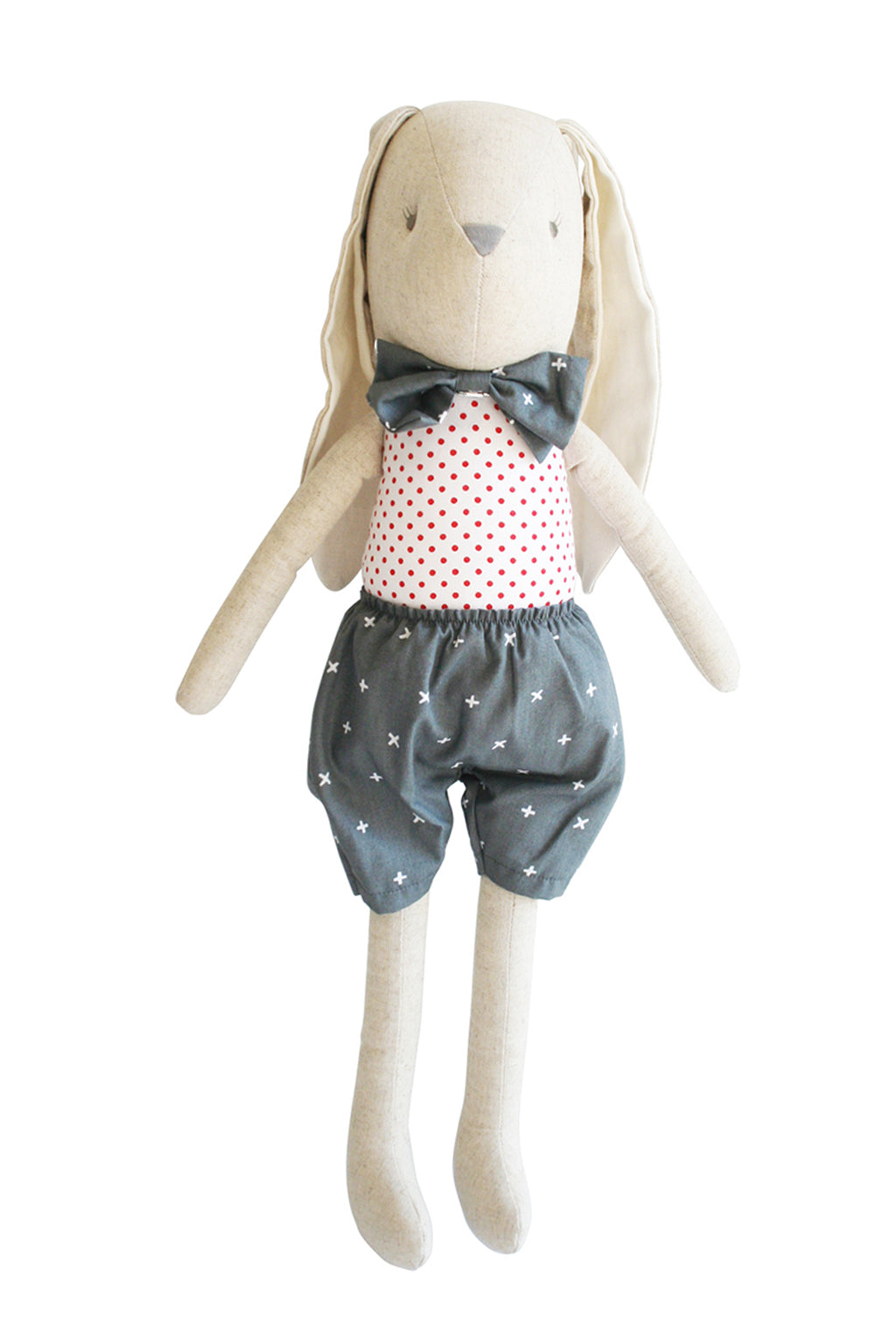 Alimrose-Bunny Linen Louie Doll 55cm Grey-Mott and Mulberry