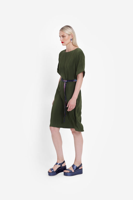 ELK-Arden Dress Olive-mott-and-mulberry-shop-online-brisbane