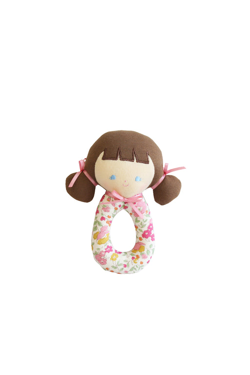 Alimrose-Audrey Grab Rattle 16cm Rose Garden-mott-and-mulberry-shop-online-brisbane