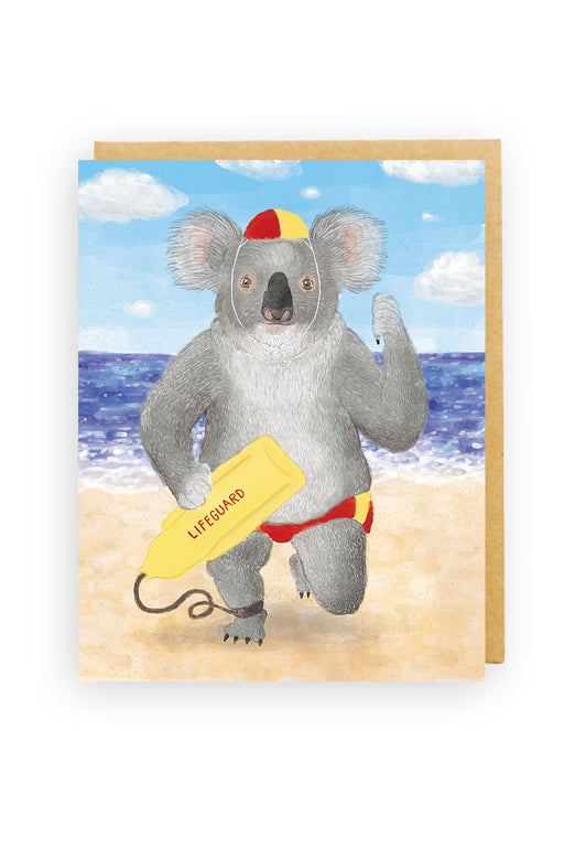 Squirrel Design Studio-Koala Lifeguard Card-mott-and-mulberry-shop-online-brisbane