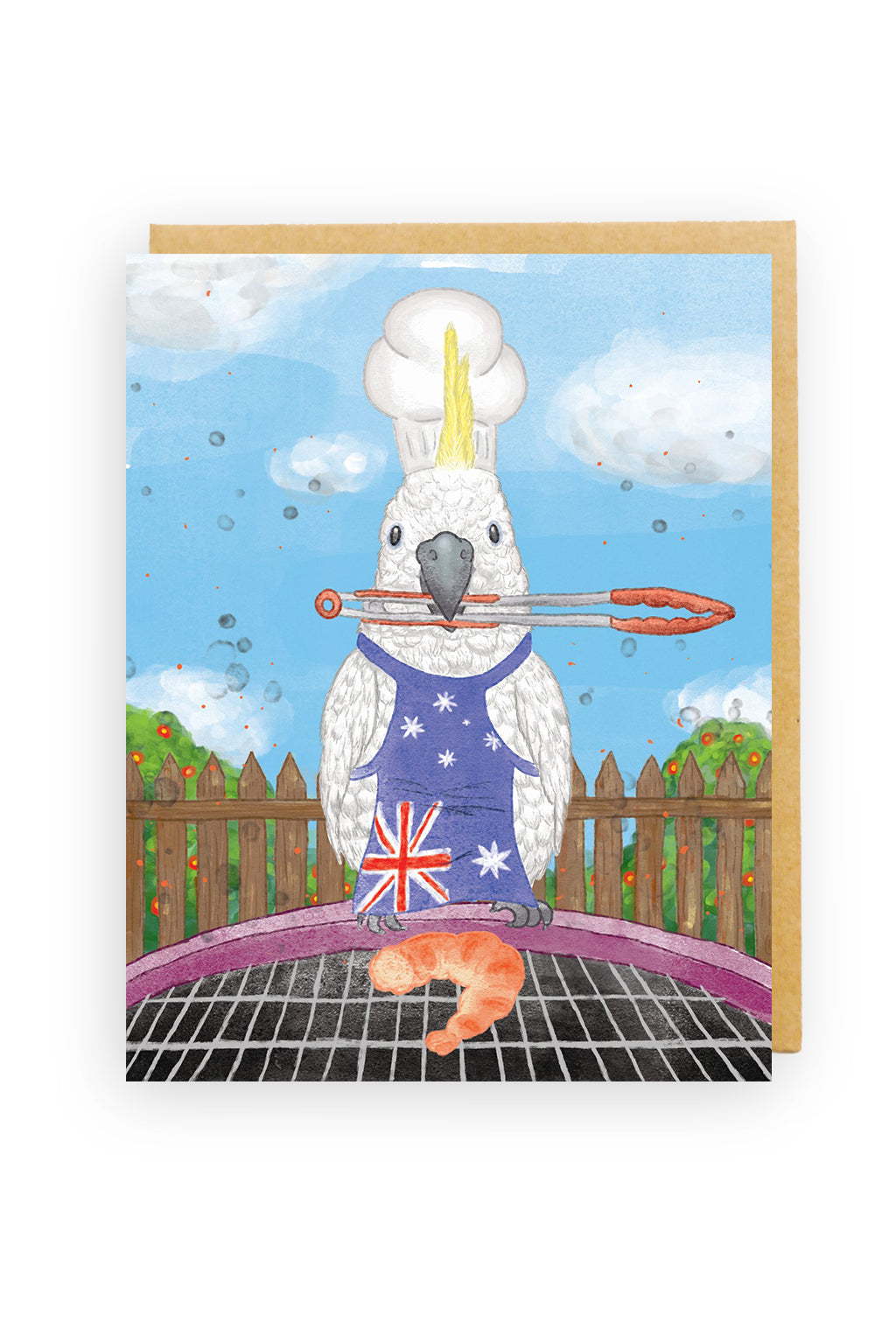 Squirrel Design Studio-Cockatoo Barbecue - Greeting Card-Mott and Mulberry