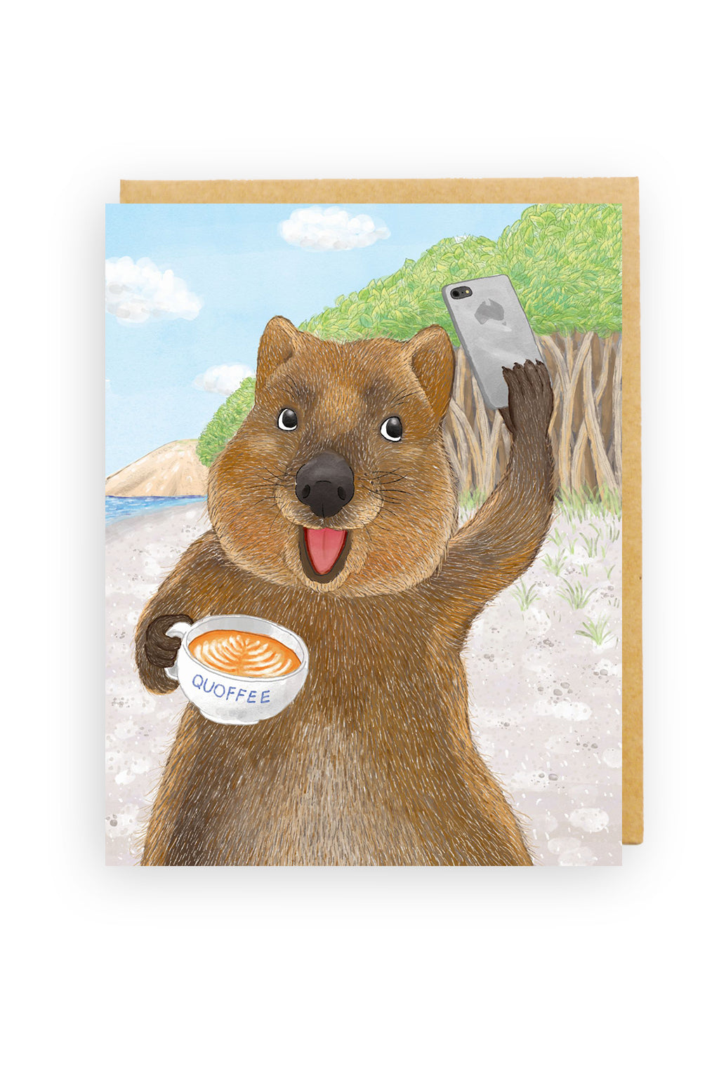 Squirrel Design Studio-Quokka Selfie - Greeting Card-Mott and Mulberry
