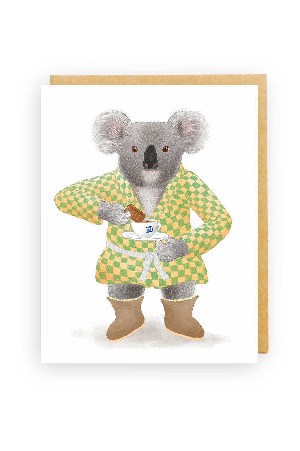 Squirrel Design Studio-Koala with Tea - Greeting Card-Mott and Mulberry