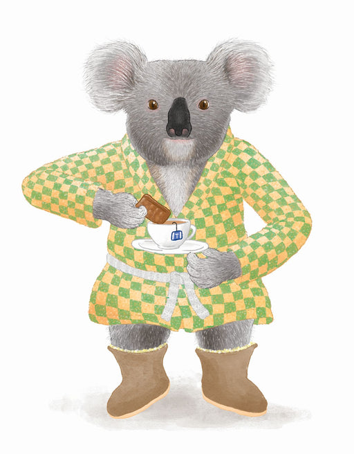 Squirrel Design Studio-Koala with Tea Card-mott-and-mulberry-shop-online-brisbane