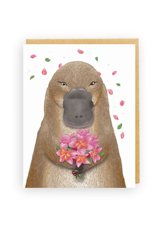 Squirrel Design Studio-Platypus Bouquet Card-mott-and-mulberry-shop-online-brisbane