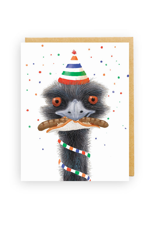 Squirrel Design Studio-Emu with Snag Card-mott-and-mulberry-shop-online-brisbane